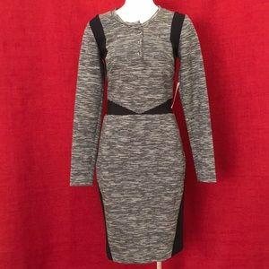 Nicole Miller Grey Multi Stretch Dress Size Small
